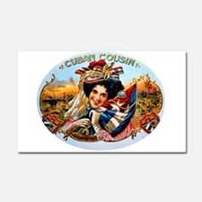 Cuban Cousin Cigar Label Car Magnet 20 x 12