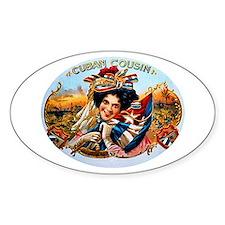 Cuban Cousin Cigar Label Decal