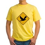 Dove Crossing Sign Yellow T-Shirt