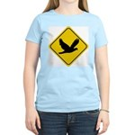 Dove Crossing Sign Women's Pink T-Shirt