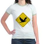 Dove Crossing Sign Jr. Ringer T-Shirt