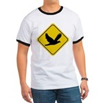 Dove Crossing Sign Ringer T