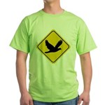 Dove Crossing Sign Green T-Shirt