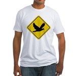 Dove Crossing Sign Fitted T-Shirt