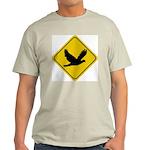 Dove Crossing Sign Ash Grey T-Shirt