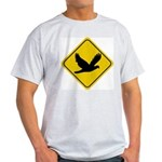 Dove Crossing Sign Ash Grey T-Shirt