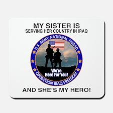 National Guard Sister Hero Mousepad
