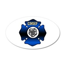 Fire Chief Gold Maltese Cross 35x21 Oval Wall Deca
