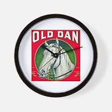 Old Dan Horse Cigar Label Wall Clock