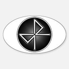 BK52 SILVER Sticker (Oval)