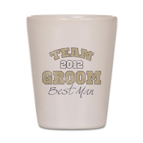 Team Groom 2012 Best Man Shot Glass