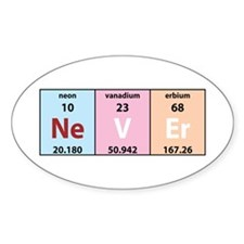 Chemical Never Oval Decal
