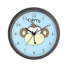 Tierra - Blue Monkey Wall Clock