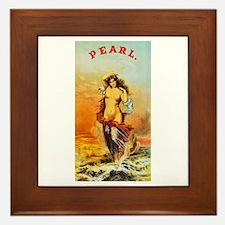 Nude Woman Cigar Label Framed Tile