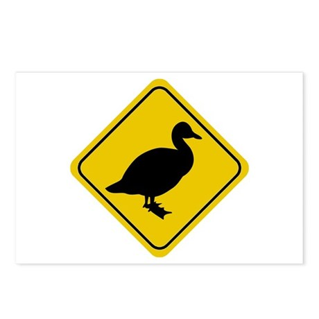 Duck Crossing Sign Postcards (Package of 8)