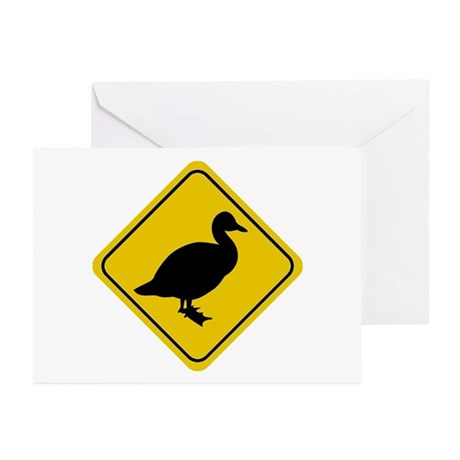 Duck Crossing Sign Greeting Cards (Pk of 10)