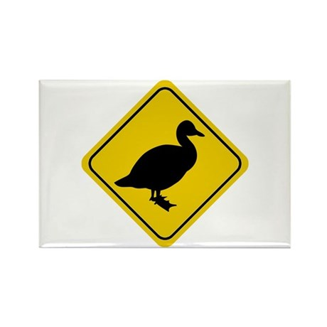 Duck Crossing Sign Rectangle Magnet