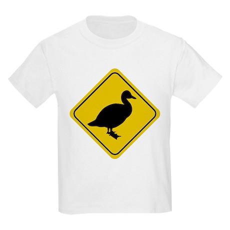 Duck Crossing Sign Kids T-Shirt