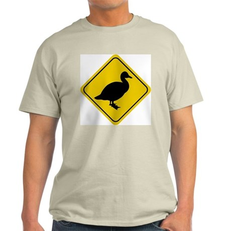 Duck Crossing Sign Ash Grey T-Shirt