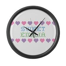 Sweet EMILIA Large Wall Clock