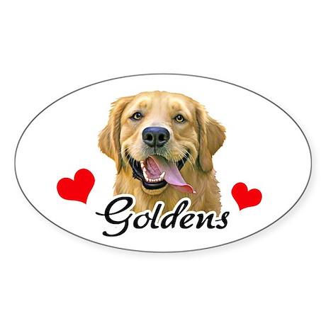 Love Goldens Sticker (Oval)