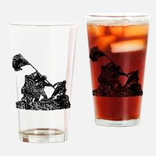 Raising The American Flag Drinking Glass
