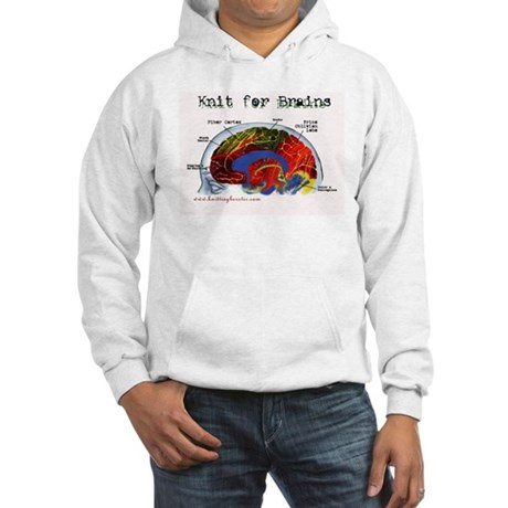 Knit For Brains Hooded Sweatshirt