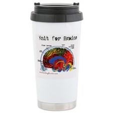 Knit For Brains Travel Mug