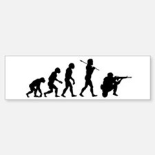 END WAR, Soldier Evolution Bumper Bumper Sticker