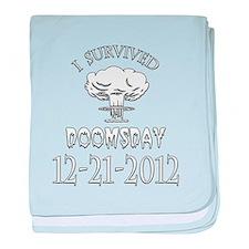 I Survived Doomsday 2012 baby blanket