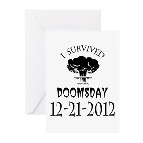 I Survived Doomsday 2012 Blac Greeting Cards (Pk o