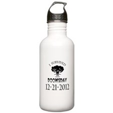 I Survived Doomsday 2012 Blac Water Bottle