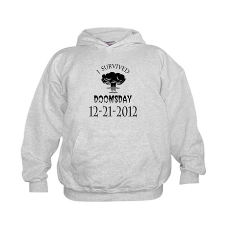 I Survived Doomsday 2012 Blac Kids Hoodie