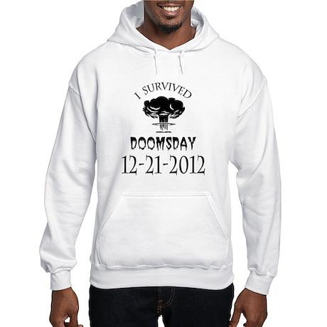 I Survived Doomsday 2012 Blac Hooded Sweatshirt