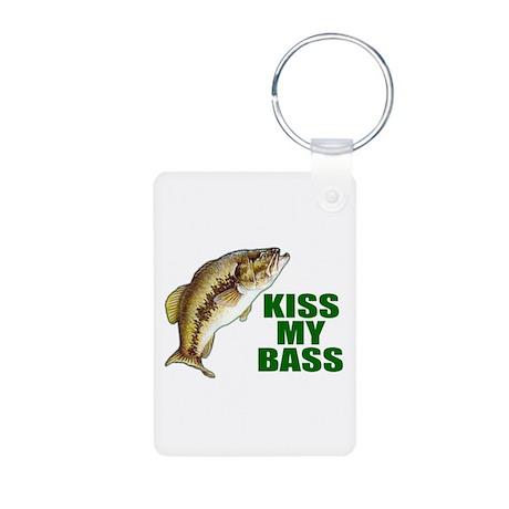 Kiss My Bass Aluminum Photo Keychain