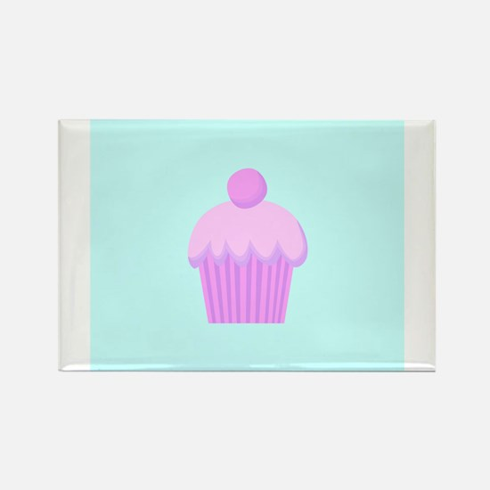 Pretty Pink Cupcake Rectangle Magnet