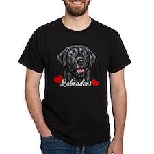 Love Labradors - Black T-Shirt