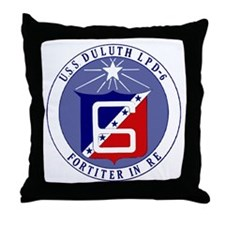 USS Duluth LPD 6 Throw Pillow