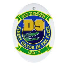 USS Denver LPD 9 Oval Ornament
