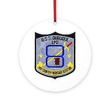 USS Dubuque LPD 8 Ornament (Round)
