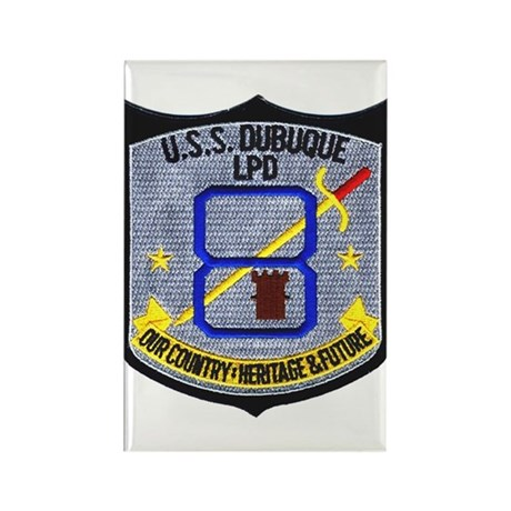 USS Dubuque LPD 8 Rectangle Magnet
