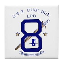 USS Dubuque LPD 8 Tile Coaster