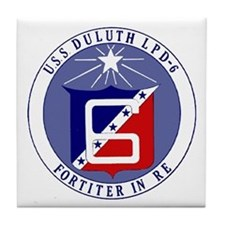 USS Duluth LPD 6 Tile Coaster