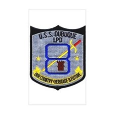 USS Dubuque LPD 8 Rectangle Decal