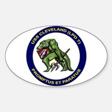 USS Cleveland LPD 7 Oval Decal