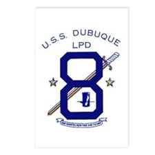 USS Dubuque LPD 8 Postcards (Package of 8)