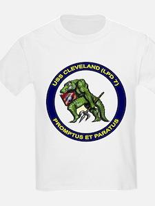 USS Cleveland LPD 7 Kids T-Shirt