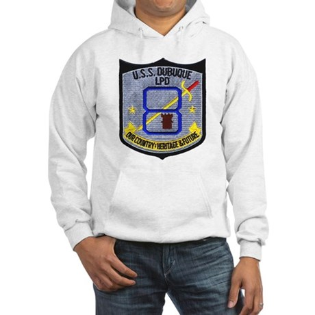 USS Dubuque LPD 8 Hooded Sweatshirt