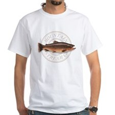 The Mountain Stream Co trout white t-shirt