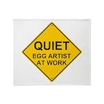 QUIET Egg Artist Throw Blanket